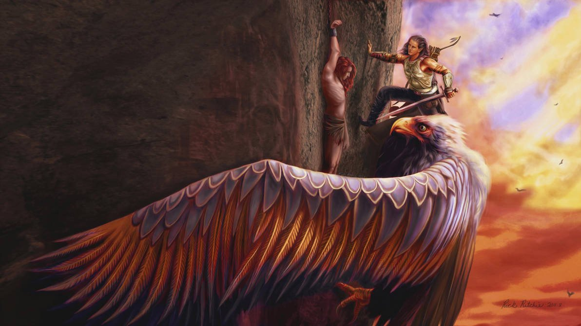 Fingon rescues Maedhros by rinthcog thorondor king of eagles