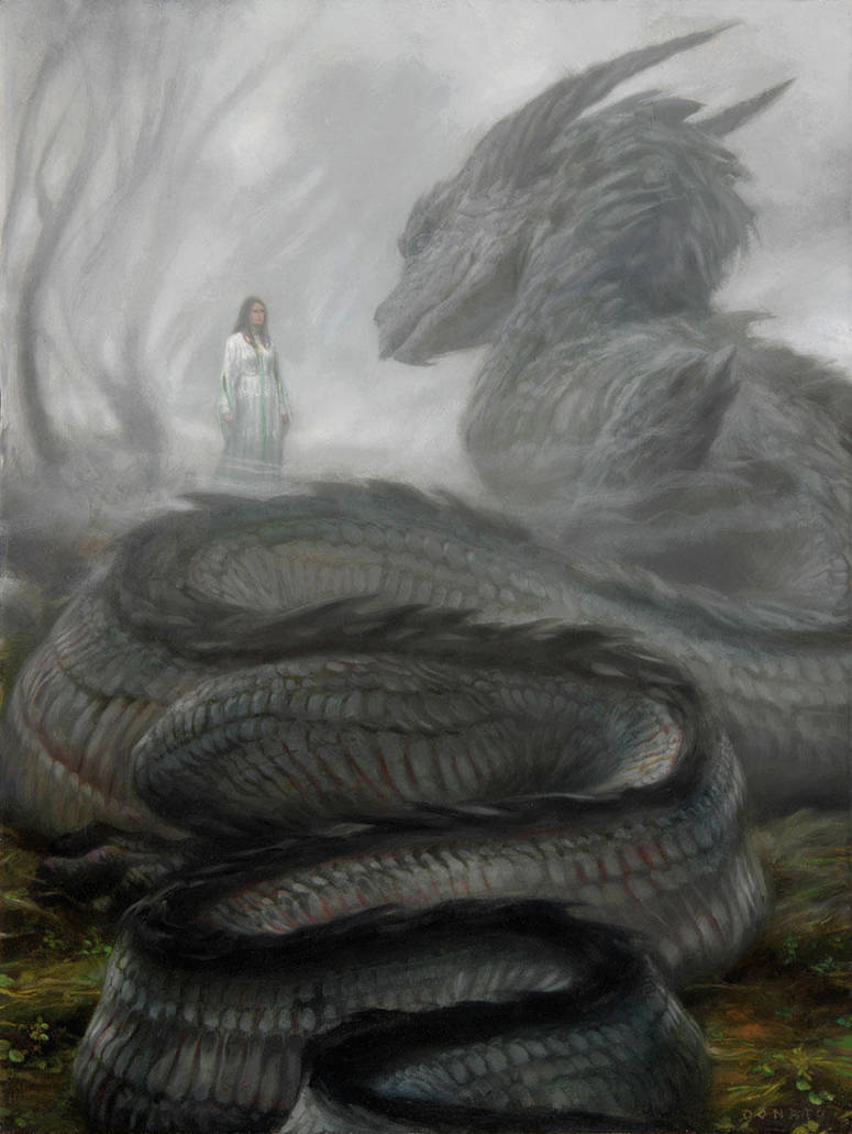 Nienor and Glaurung by DonatoArts The Silmarillion children of hurin